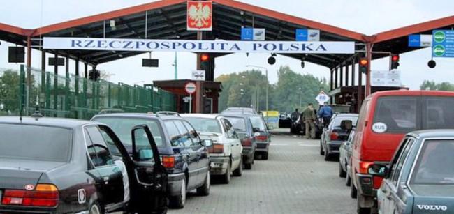 очередь на польской границе