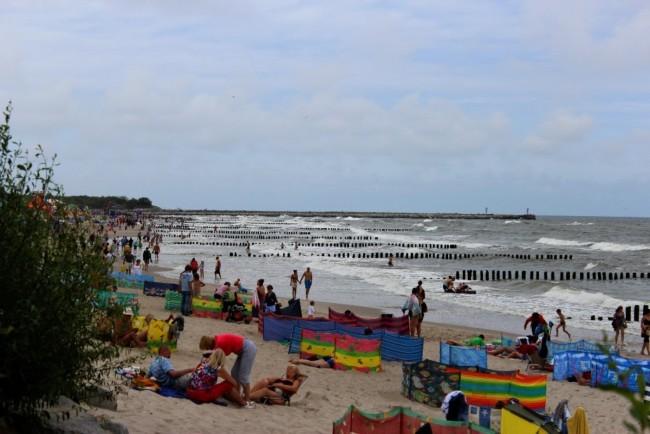 Курорт Устка, пляж, панорама