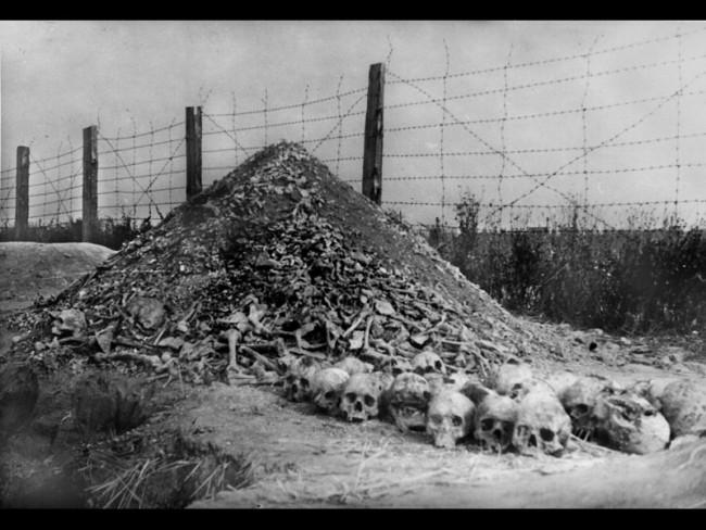 Гора черепов в Освенциме