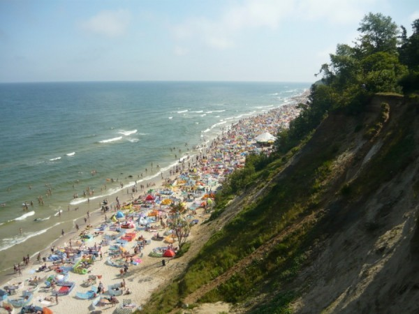 Ястшембя Гура, пляж, вид сверху