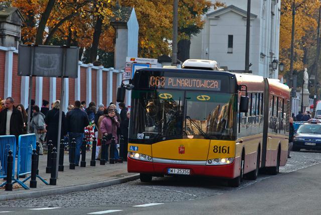 Автобус принадлежащий компании ZTM w Warszawie