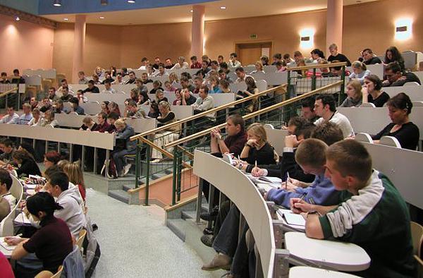 Польские студенты в аудитории
