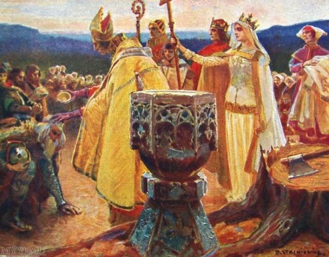 Królowa Jadwiga. Chrzest Litwy