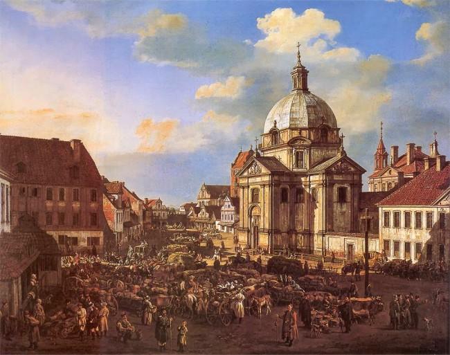 Rynek Nowego Miasta z kościołem