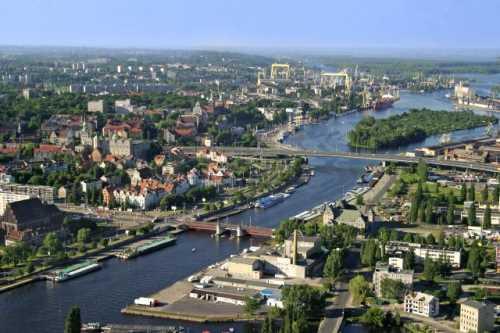 Набережная города Щецин