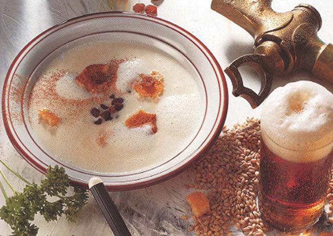 Пивной суп со сливками